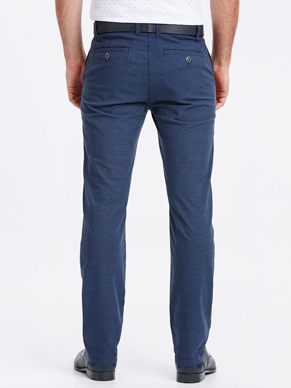 Erkek Ekose Standart Kalıp Pamuklu Pantolon