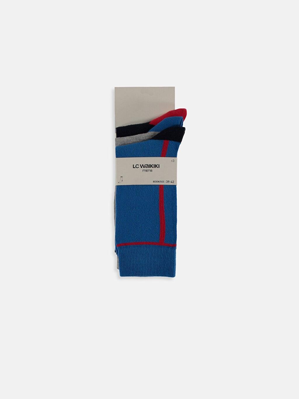 Çok Renkli Soket Çorap 3'lü 9S6549Z8 LC Waikiki