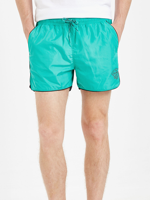 %100 Poliamid Kısa Boy Standart Kalıp Deniz Şortu
