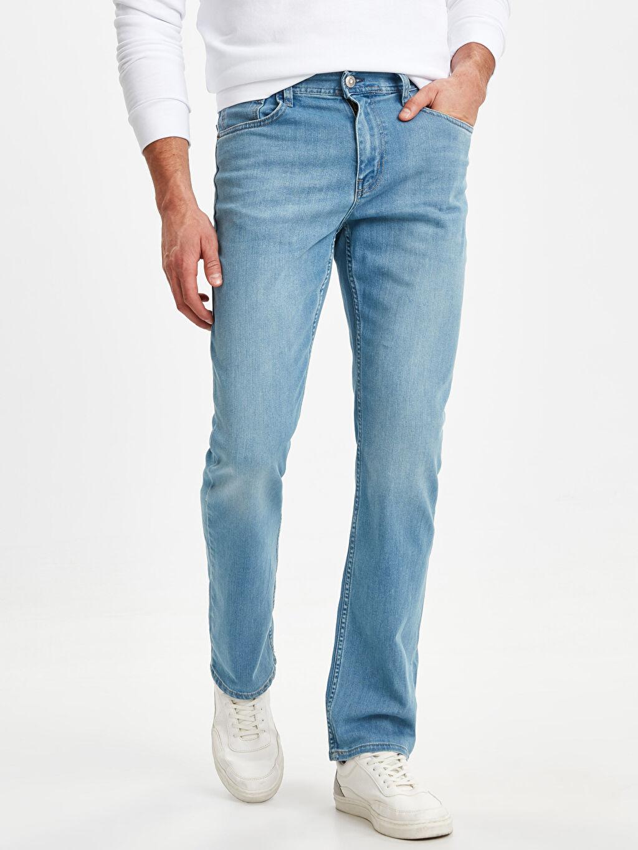 %86 Pamuk %13 Polyester %1 Elastan Normal Bel Normal Jean 879 Regular Fit Jean Pantolon