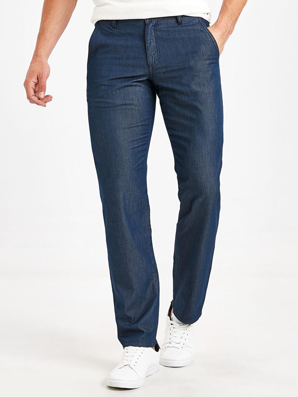 %100 Pamuk Normal Jean 779 Regular Fit Jean Pantolon