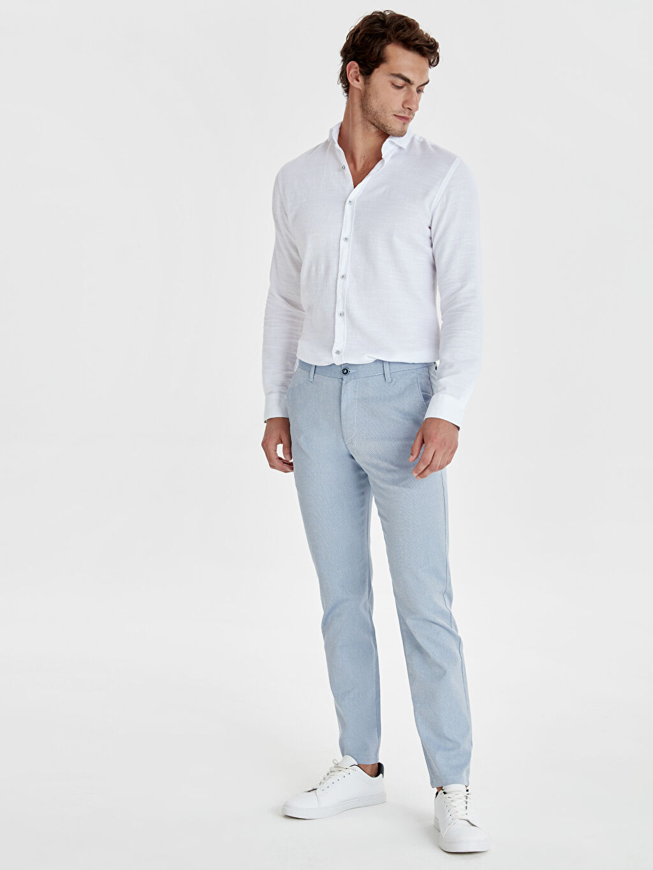 Mavi Slim Fit Armürlü Pantolon 9S8992Z8 LC Waikiki