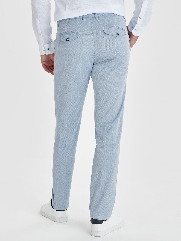 Erkek Slim Fit Armürlü Pantolon