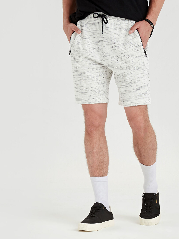 %98 Pamuk %2 Polyester Şort Regular Fit Bermuda Şort