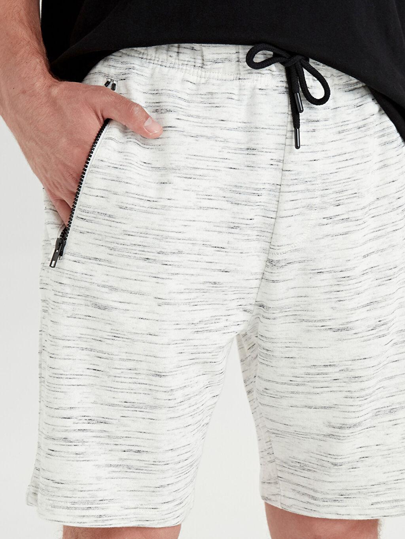 %98 Pamuk %2 Polyester Regular Fit Bermuda Şort