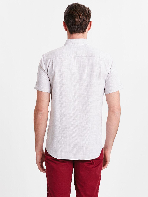 %100 Pamuk Normal Düz Kısa Kol Gömlek Düğmeli Regular Fit Kısa Kollu Oxford Gömlek
