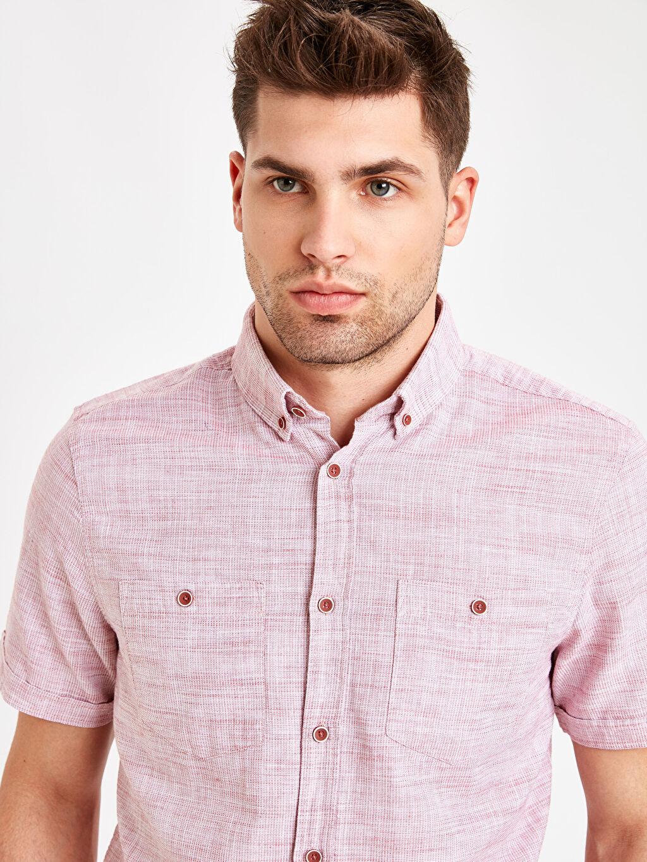 Erkek Regular Fit Kısa Kollu Oxford Gömlek