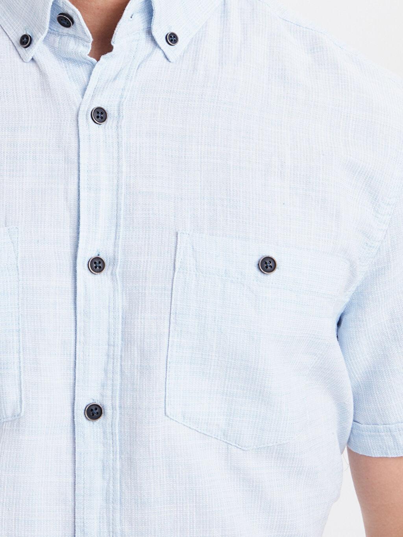 %100 Pamuk Regular Fit Kısa Kollu Oxford Gömlek