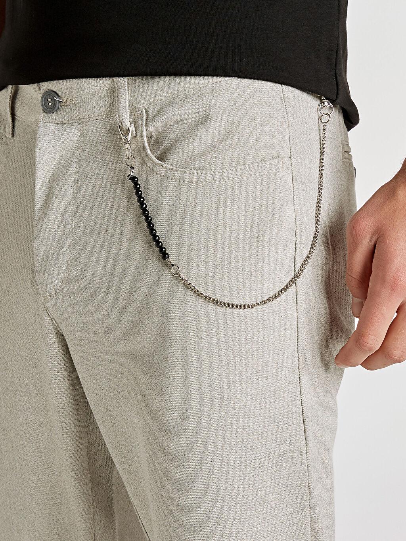 %64 Polyester %3 Elastan %33 Viskoz Regular Fit Bilek Boy Poliviskon Pantolon