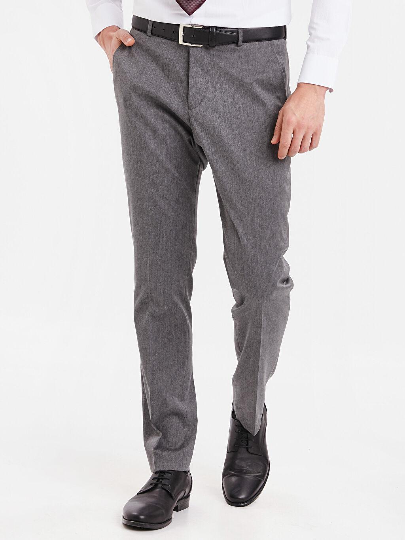 %73 Polyester %3 Elastan %24 Viskoz %100 Polyester  Standart Kalıp Takım Elbise Pantolonu