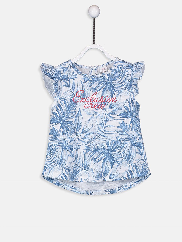 Beyaz Kız Bebek Baskılı Pamuklu Tişört  9SK564Z1 LC Waikiki