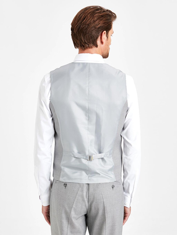 %73 Polyester %2 Elastan %25 Viskoz %100 Polyester  Dar Kalıp Klasik Yelek