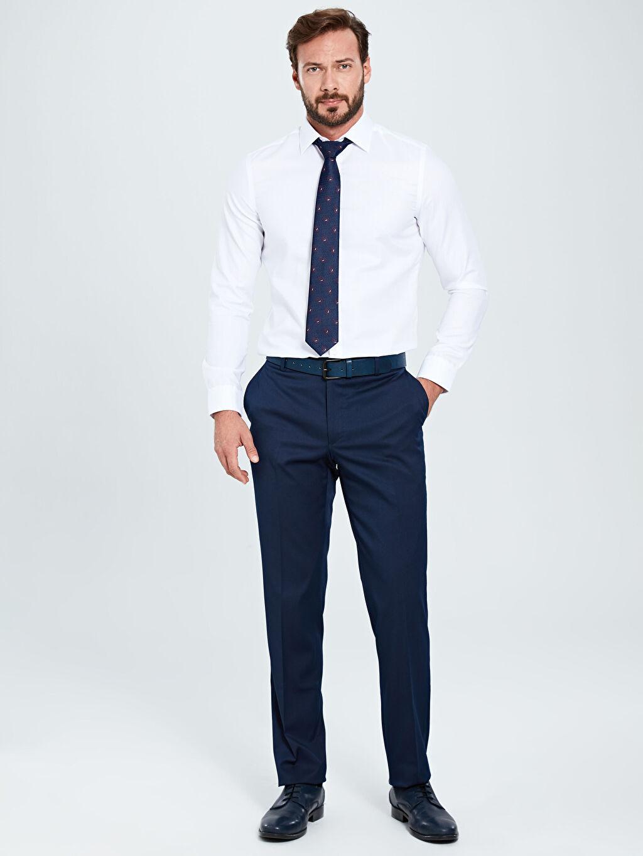 Lacivert Slim Fit Gabardin Akıllı Kumaş Takım Elbise Pantolonu 9SL334Z8 LC Waikiki