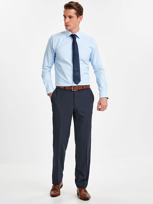 Lacivert Standart Kalıp Gabardin Takım Elbise Pantolonu 9SL942Z8 LC Waikiki