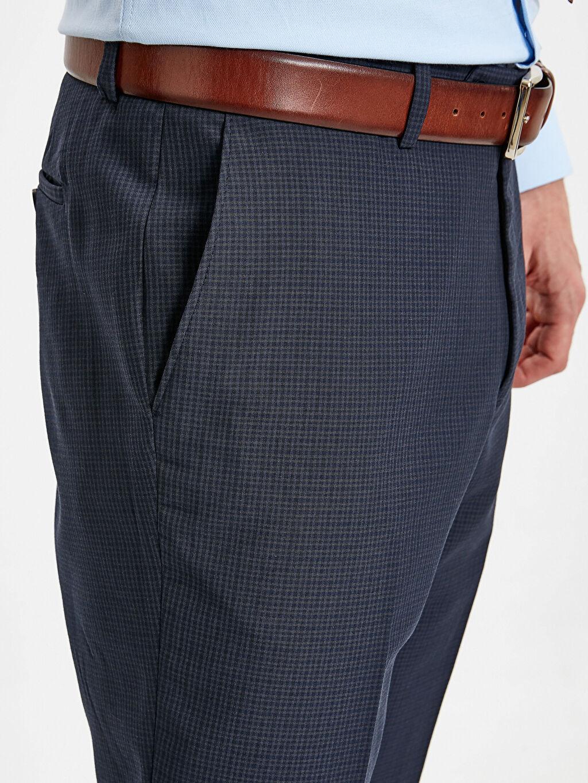 %67 Polyester %33 Viskon Standart Kalıp Gabardin Takım Elbise Pantolonu