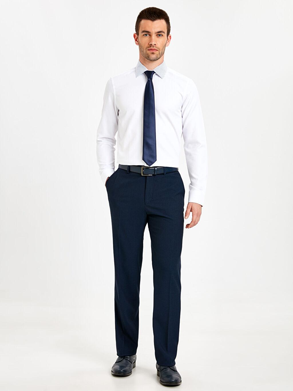Lacivert Standart Kalıp Gabardin Takım Elbise Pantolonu 9SL943Z8 LC Waikiki