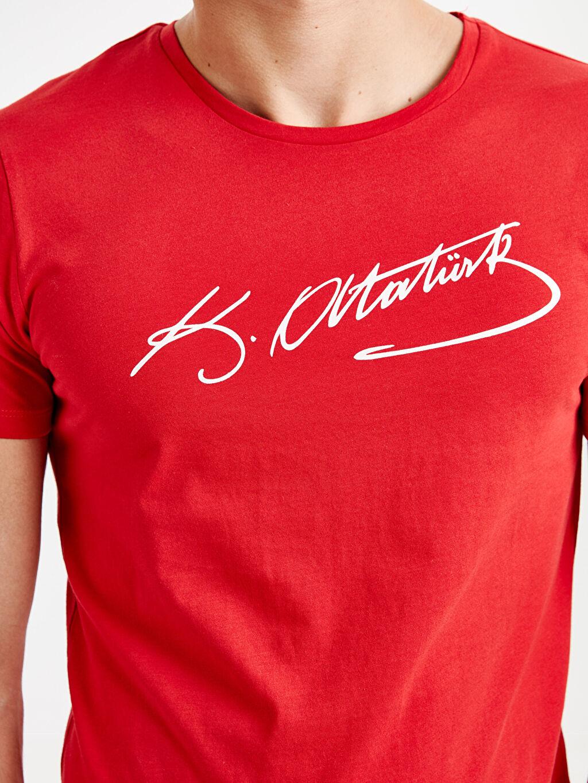 Erkek Atatürk İmzası Baskılı Tişört