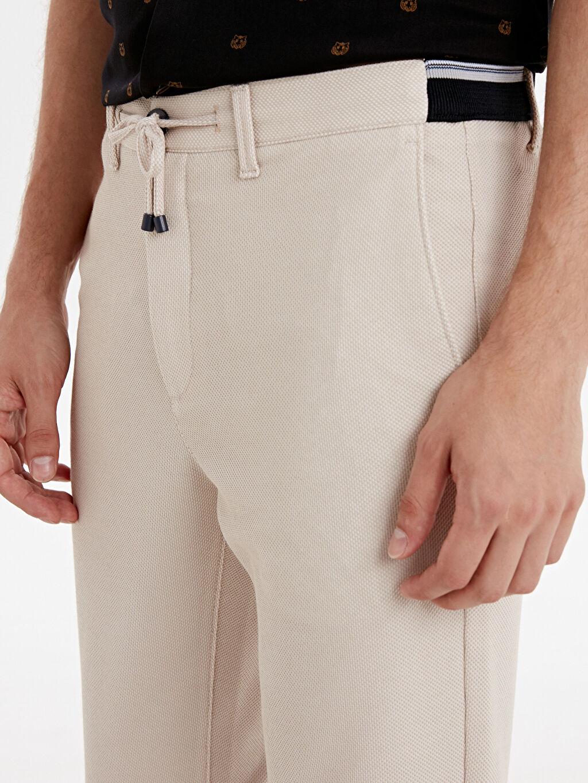 %10 Pamuk %90 Polyester Slim Fit Bilek Boy Spor Pantolon