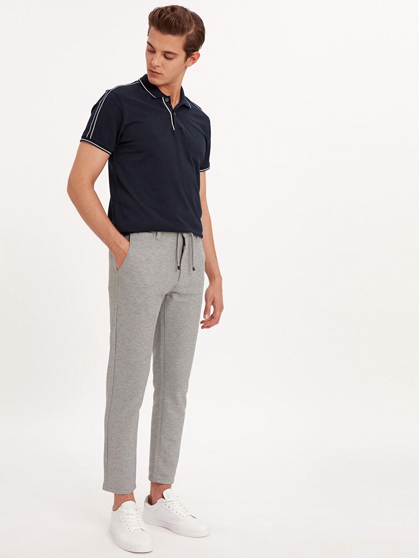 Gri Slim Fit Bilek Boy Spor Pantolon 9SN544Z8 LC Waikiki