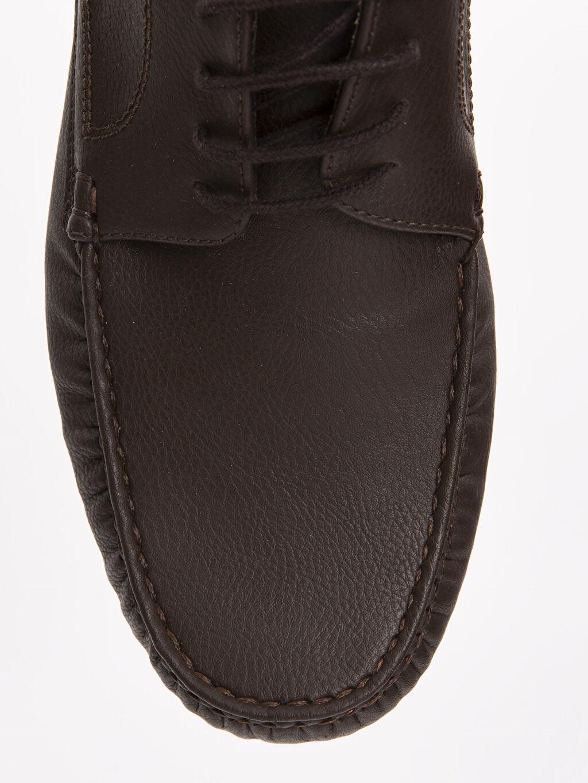 LC Waikiki Kahverengi Erkek Deri Görünümlü Ayakkabı