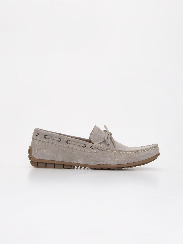 Gri Erkek Deri Loafer Ayakkabı 9SP191Z8 LC Waikiki