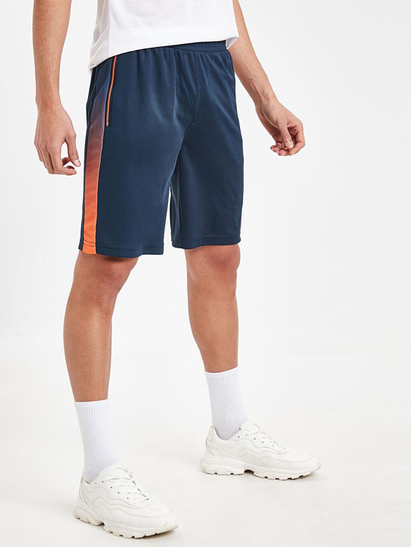 %100 Polyester Şort Regular Fit Aktif Spor Şort