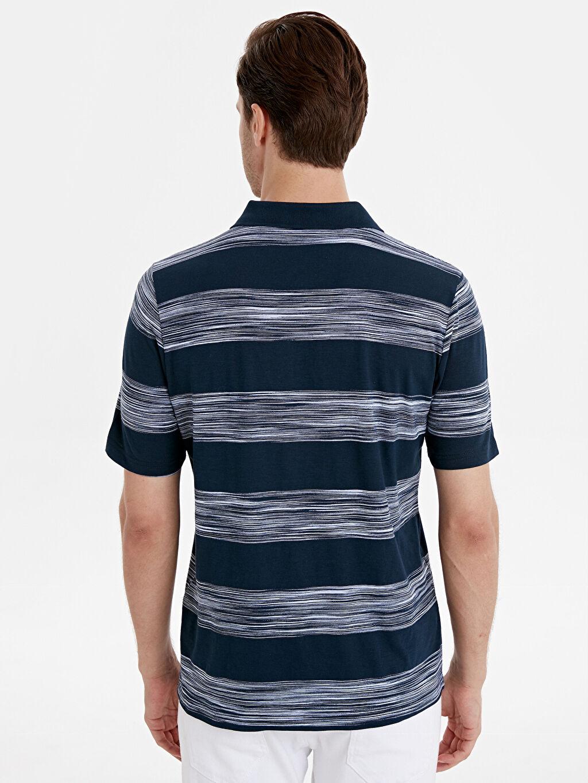 Erkek Polo Yaka Çizgili Kısa Kollu Tişört