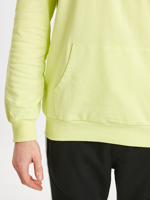 %84 Pamuk %16 Polyester Kapüşonlu Sweatshirt