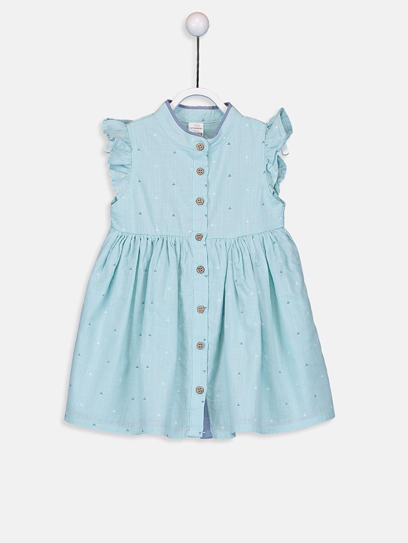 Turkuaz Kız Bebek Pamuklu Elbise 9SQ587Z1 LC Waikiki