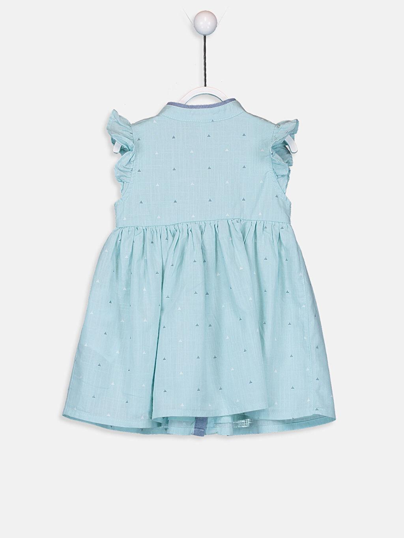 %100 Pamuk %100 Pamuk Desenli Kız Bebek Pamuklu Elbise