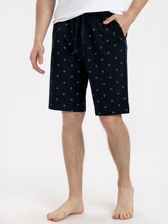 %100 Pamuk Standart Baskılı Pijama Şort