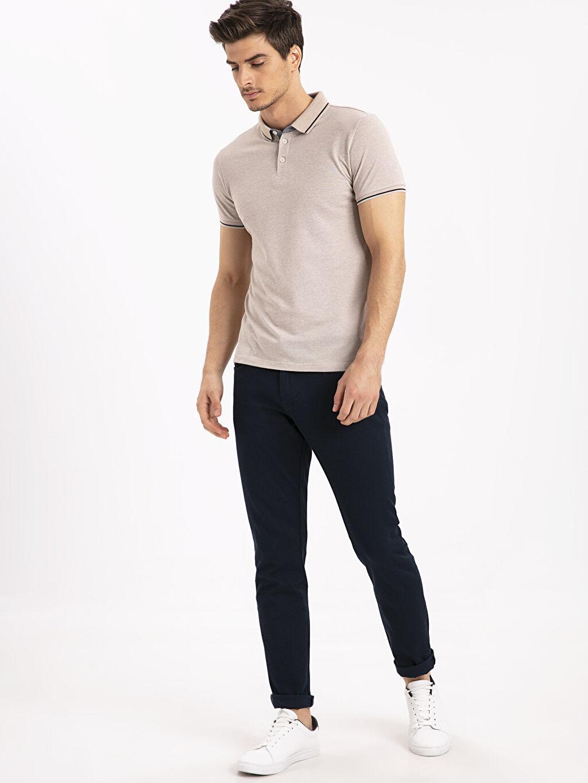 Erkek Slim Fit Polo Yaka Tişört
