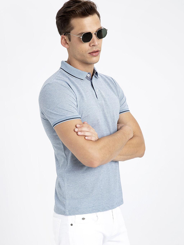 Mavi Slim Fit Polo Yaka Tişört 9SQ830Z8 LC Waikiki