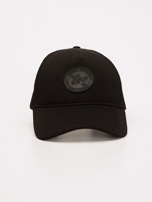 %100 Polyester  Etiket Detaylı Şapka