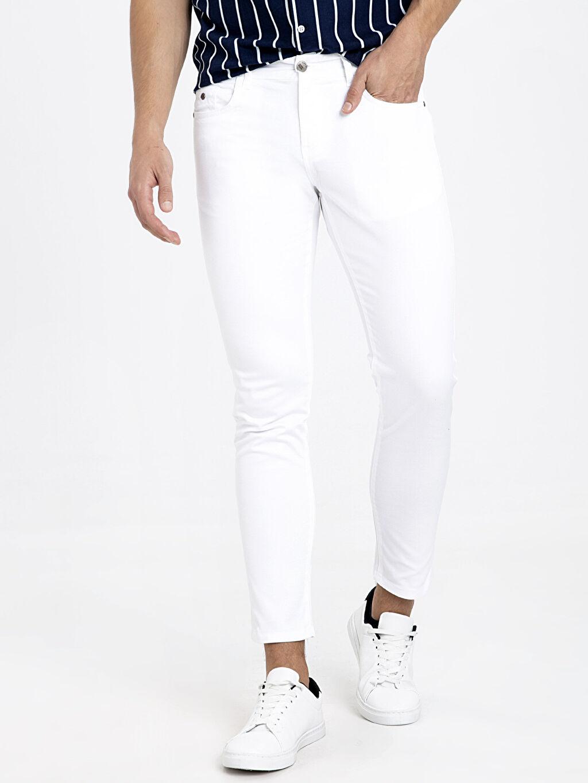 %98 Pamuk %2 Elastan %35 Pamuk %65 Polyester Dar Pantolon Normal Bel Pilesiz Normal Bel Dar Pilesiz Pantolon