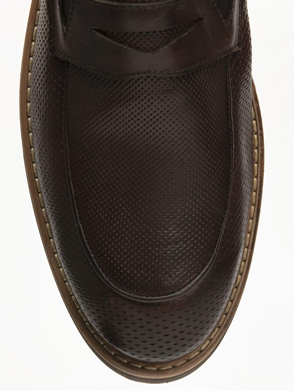 LC Waikiki Kahverengi Erkek Deri Loafer Ayakkabı