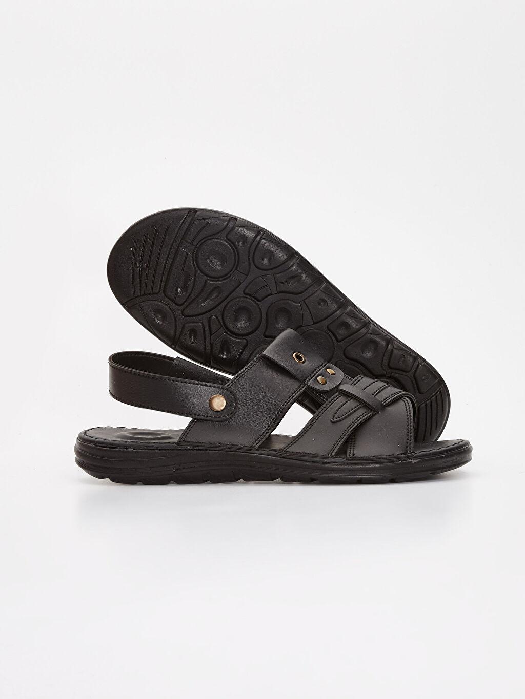 Erkek Erkek Deri Görünümlü Sandalet