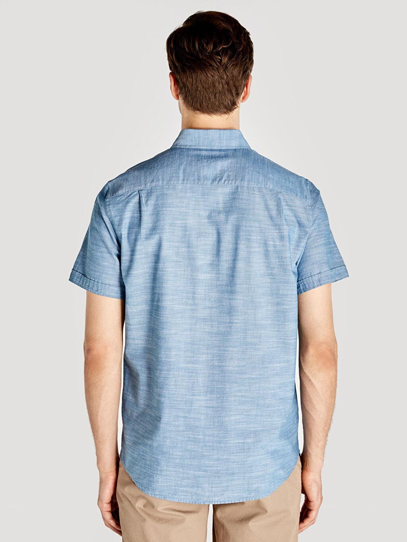 Erkek Regular Fit Kısa Kollu Basic Poplin Gömlek