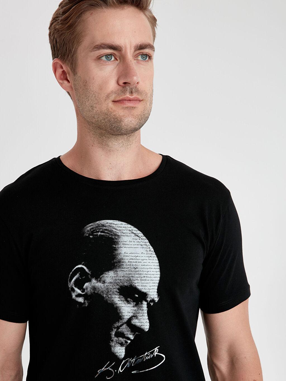 %100 Pamuk Atatürk Baskılı Pamuklu Tişört