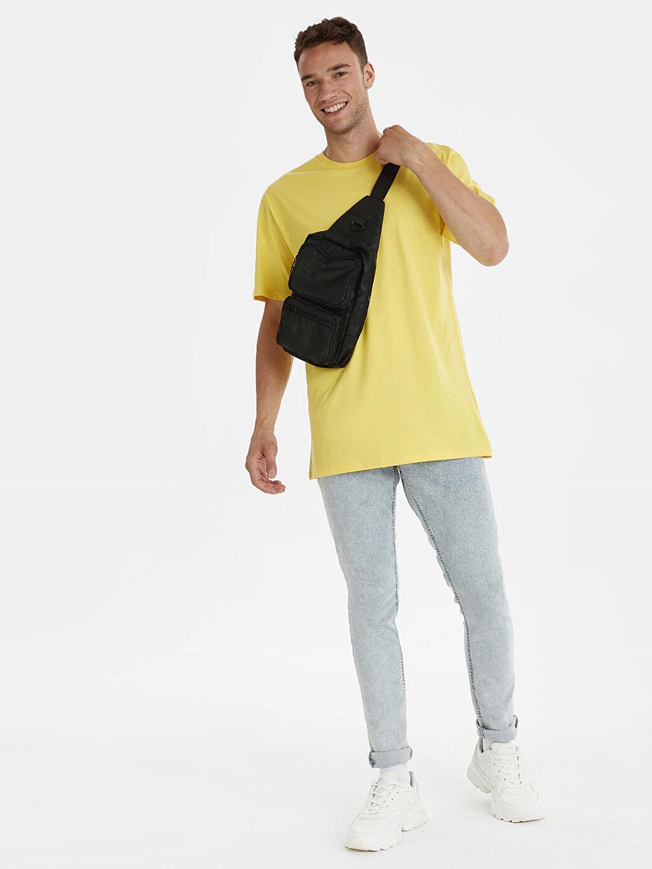 Erkek Bisiklet Yaka Kısa Kollu Basic Oversize Tişört
