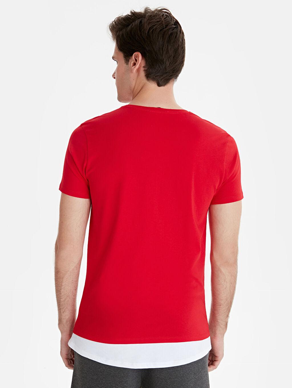 %100 Pamuk Düz Standart Kısa Kol Tişört Bisiklet Yaka Bisiklet Yaka Kısa Kollu Basic Tişört