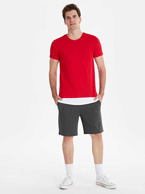 Erkek Bisiklet Yaka Kısa Kollu Basic Tişört