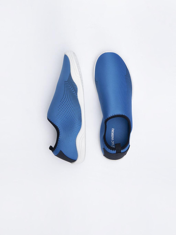 %0 Diğer malzeme (pvc) %0 Tekstil malzemeleri(%50 pamuk,  %50 polyester)  Erkek Plaj Ayakkabı