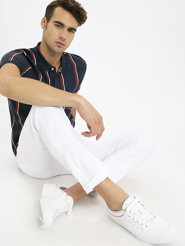 Beyaz Letoon Erkek Deri Görünümlü Spor Ayakkabı