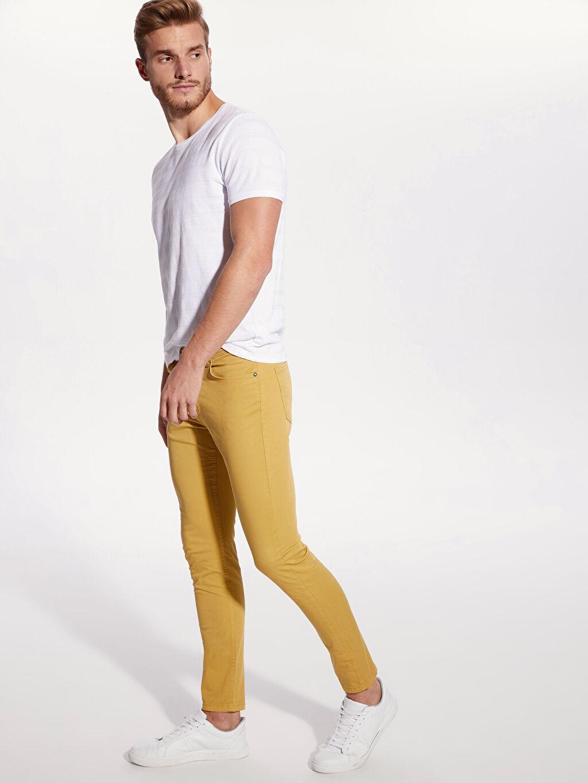 Sarı Dar Kalıp Gabardin Chino Pantolon 9SA337Z8 LC Waikiki