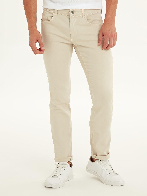 %91 Pamuk %6 Elastomultiester %3 Elastan Dar Normal Bel Jean 750 Slim Fit Jean Pantolon