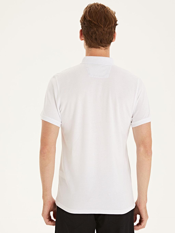 Erkek Slim Fit Polo Yaka Kısa Kollu Pike Tişört