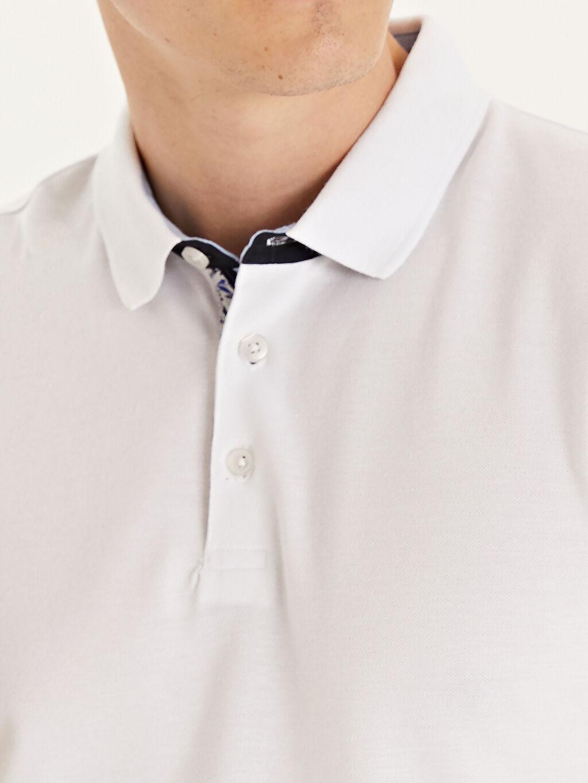 %100 Pamuk Slim Fit Polo Yaka Kısa Kollu Pike Tişört