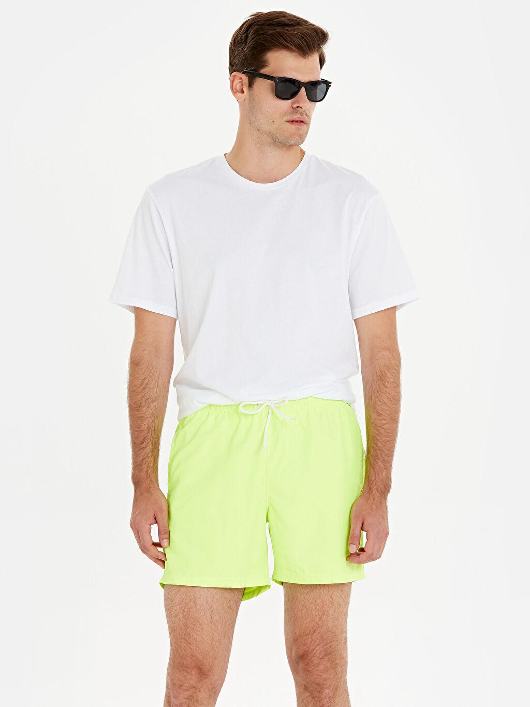 Yeşil Diz Hizası Boy Basic Deniz Şortu 9SA842Z8 LC Waikiki