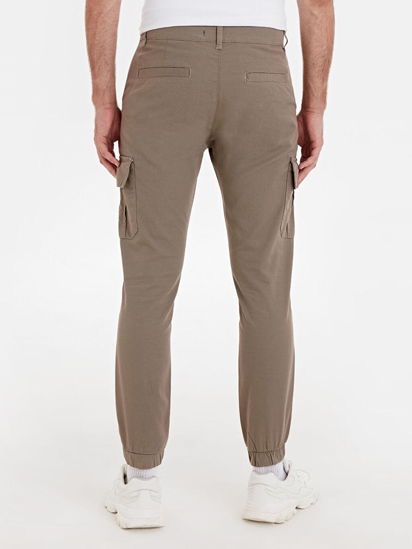Erkek Slim Fit Kargo Cepli Gabardin Pantolon